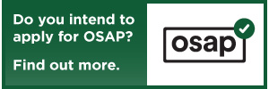 Do you intend to apply for OSAP? Click here to find out more.
