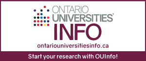 Start your research with OUInfo at ontariouniversitiesinfo.ca